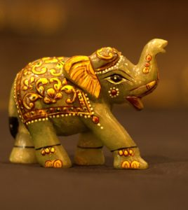 Green Quartz Elephant